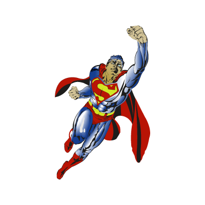 Superman flying logo