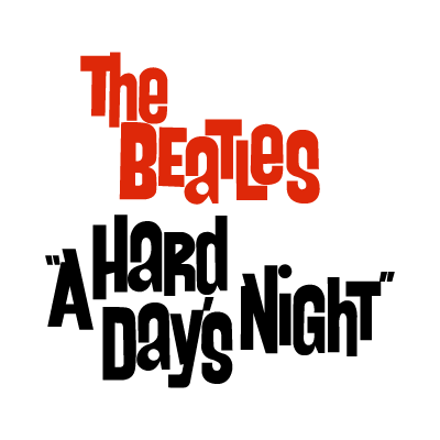 The Beatles a hard day's night vector logo