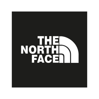 The North Face black vector logo