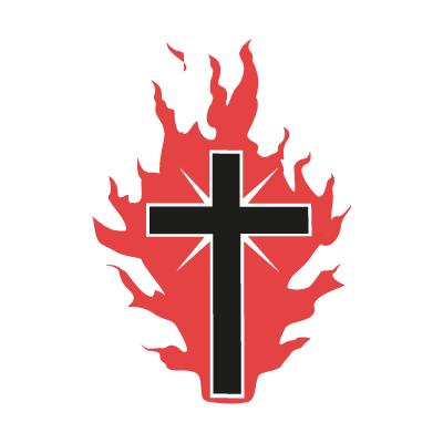 The Cross On Fire For God vector logo