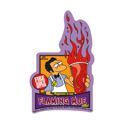 The Simpsons  Flaming Moe logo