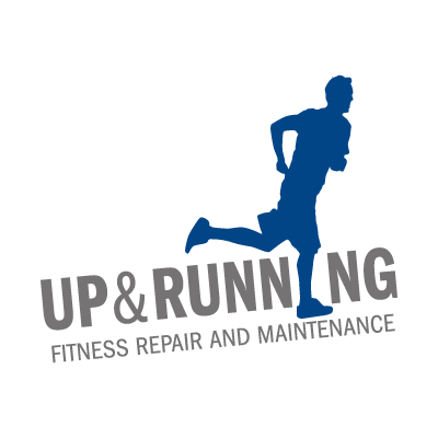 Up & Running vector logo