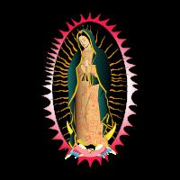 Viregn de Guadalupe vector free download