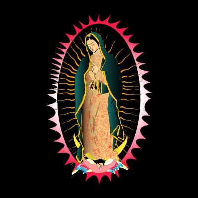 Viregn de Guadalupe vector