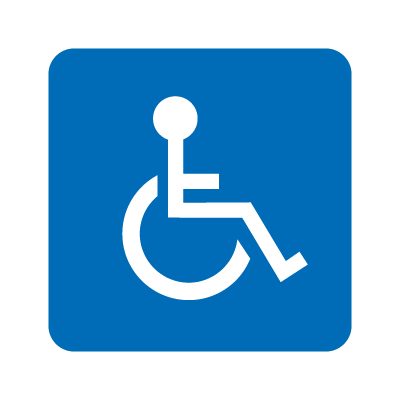 Wheelchair accessible vector logo