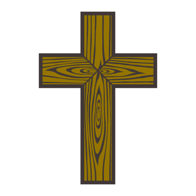 Wood cross vector logo
