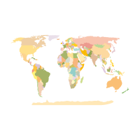 World Map Earth vector logo free download