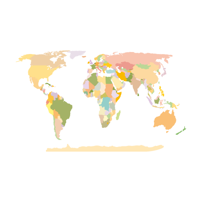 World Map Earth vector logo