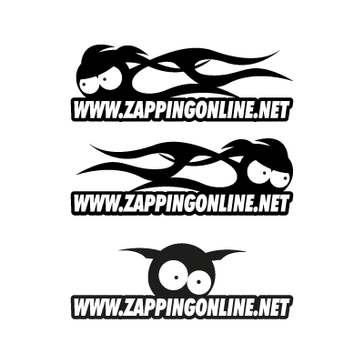Zapping on line vector logo