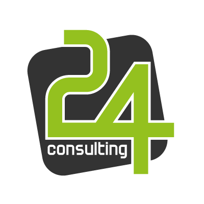 24 Consulting vector logo