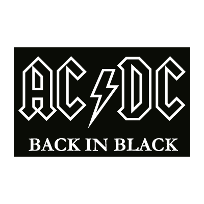 AC DC black vector logo
