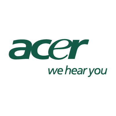 Acer we hear you vector logo