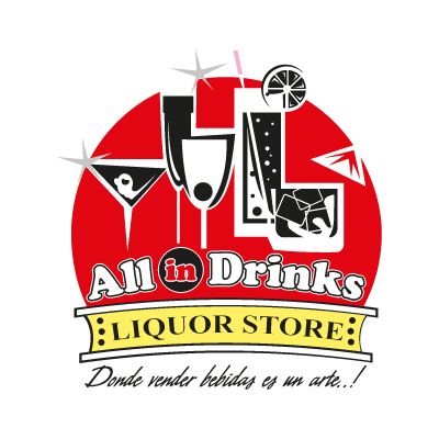 All in Drinks vector logo