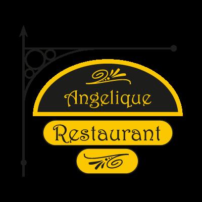 Angelique Restaurant vector logo