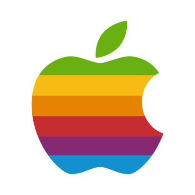 Apple Classic rainbow vector logo