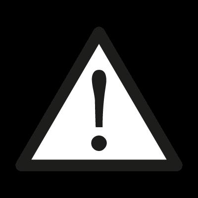 Attention sign vector logo