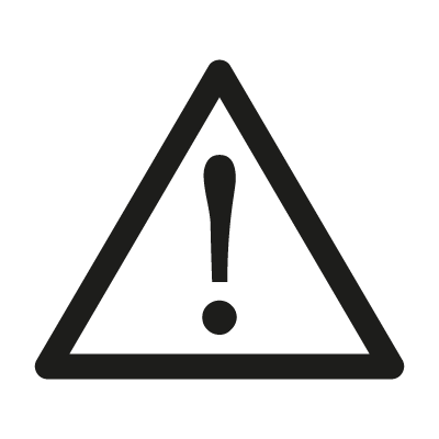 Attention sign logo