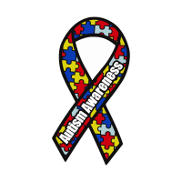 Autism Awareness Ribbon vector logo download free