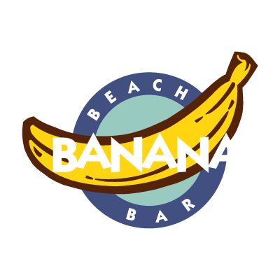 Banana Beach Bar vector logo