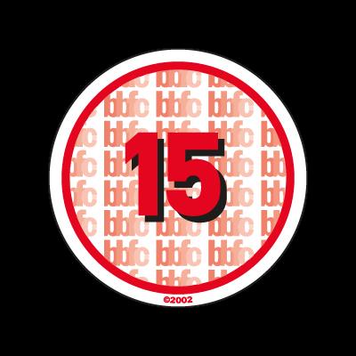 BBFC 15 Certificate UK logo