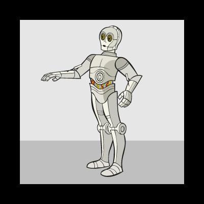 C3PO vector logo