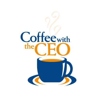 Coffee with the CEO vector logo