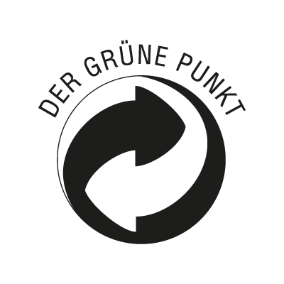 Der Grune Punkt Black vector logo