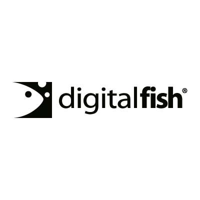 Digital Fish vector logo