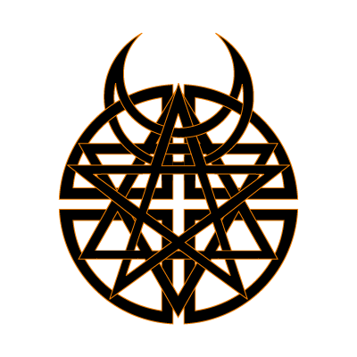 Disturbed vector logo