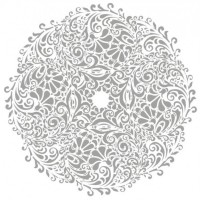 Floral round background Tattoo vector download