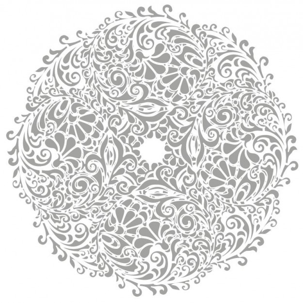 Floral round background Tattoo logo