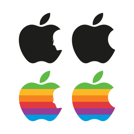 Apple Tribute To Steve Jobs vector