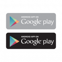 Android app on Google play vector free