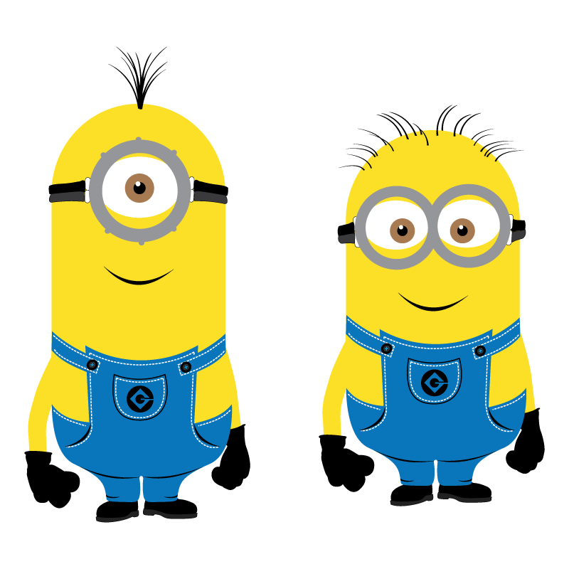 Minions characters yellow vector ( eps) free download