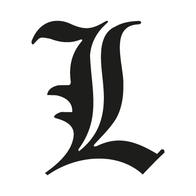 """L"" letter from Death Note logo vector – Logo ""L"" letter download"