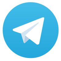 Telegram logo vector