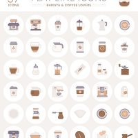 Free Coffee Flat Icon vector