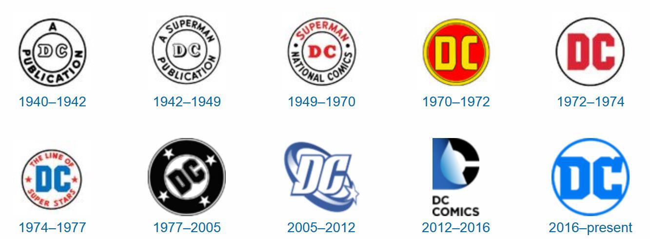 dc comics logo history