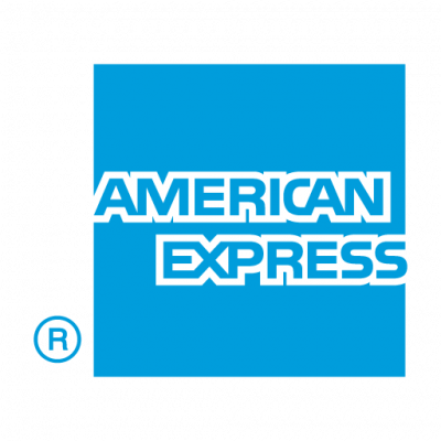 American Express flat logo vector