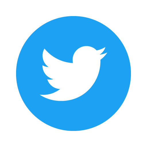 Twitter Icon Circle (Blue) logo