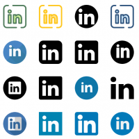20 LinkedIn icons vector download