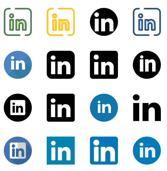 20 Linkedin Icons Vector Eps Svg Png Download
