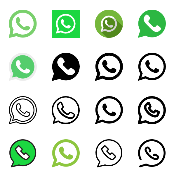 40 WhatsApp icons logo