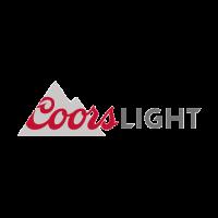 Coors Light beer logo vector