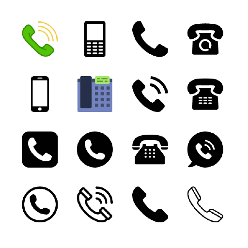 30 Telephone vector icons